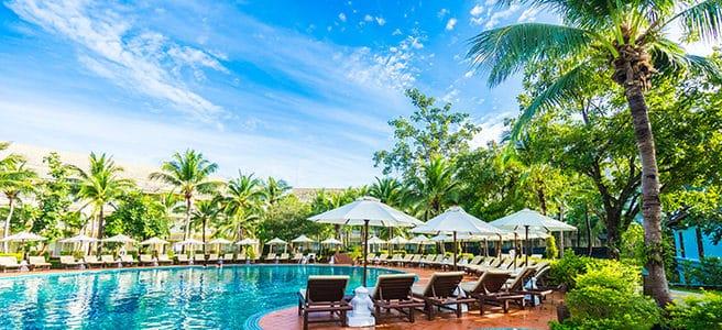 Schwimmen unter Palmen - welche Palmen kommen für Schwimmbäder infrage?